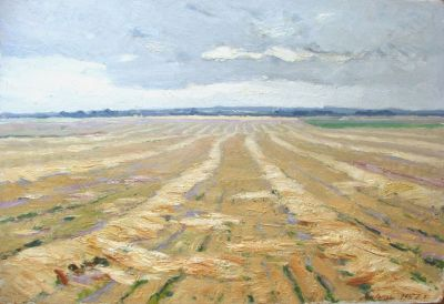 Gavriil Malysh - Harvested Field, 1957