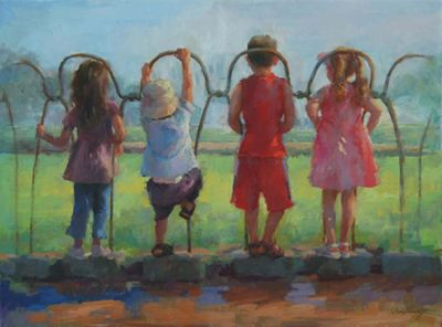 Select Sold Works: Marci Oleszkiewicz - Four Cousins