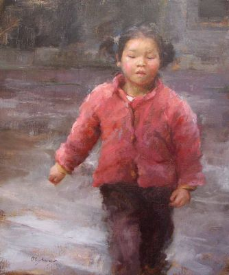 Select Sold Works: Marci Oleszkiewicz - Pink Coat
