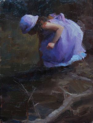 Select Sold Works: Marci Oleszkiewicz - Purple Dress