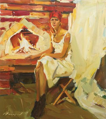 Renat Ramazanov - By the Fireplace
