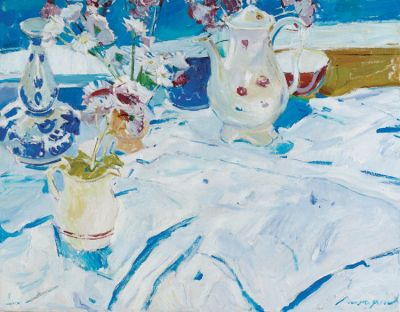 Renat Ramazanov - On a White Tablecloth