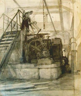 Sold Works: Vladimir Skryabin - In the Izhorkski Factory