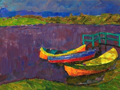 Sold Works: Vladimir Skryabin - Boats