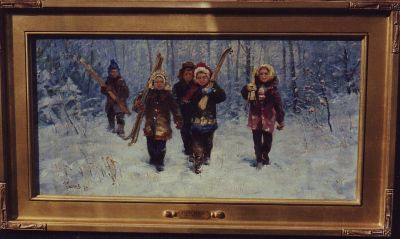 Sold Works: Boris Spornikov - Young Skiers
