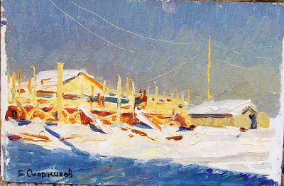 Sold Works: Boris Spornikov - Construction of the Social Club in Yakutia