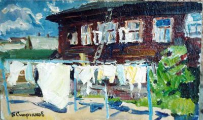 Sold Works: Boris Spornikov - Clothesline in Yakutia