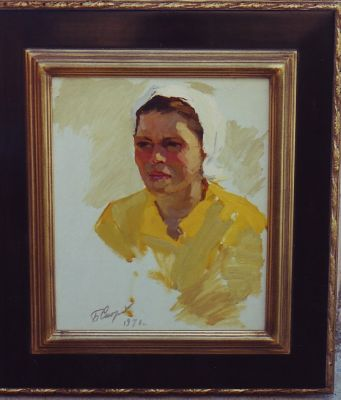 Sold Works: Boris Spornikov - Girl with the Yellow Shirt