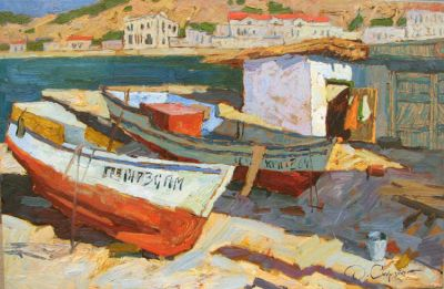 Select Sold Works: Denis Sarazhin - Two Boats
