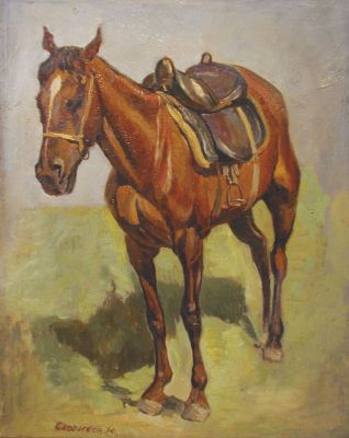 Sold Works: Yuri Skorikov - Study of Horse with Saddle