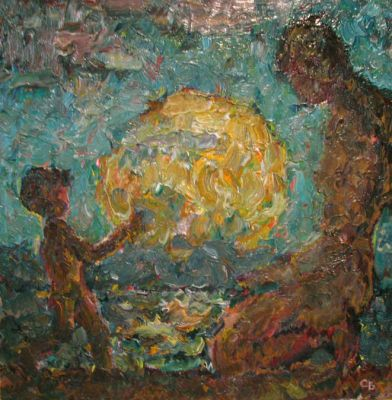 Vladimir Skryabin - Mother and Child, 1975
