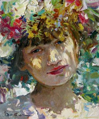 Select Sold Works: Ivan Vityuk - Study in a Wreath