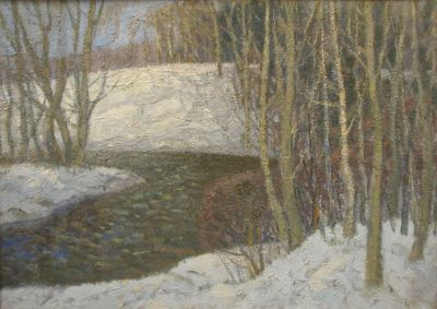 Vladimir Telegin - Winter Creek, 1985