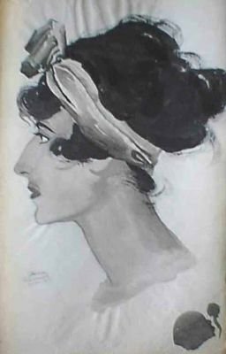 Works on Paper - Profile of a Woman