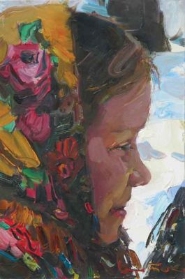 Select Sold Works: Ivan Vityuk - Girl in Shawl