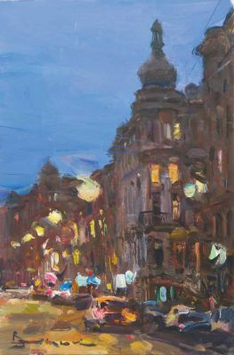 Select Sold Works: Ivan Vityuk - Street at Night