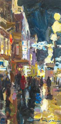 Select Sold Works: Ivan Vityuk - Lights of Nevski Prospect