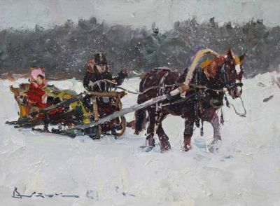 Select Sold Works: Ivan Vityuk - Winter Ride
