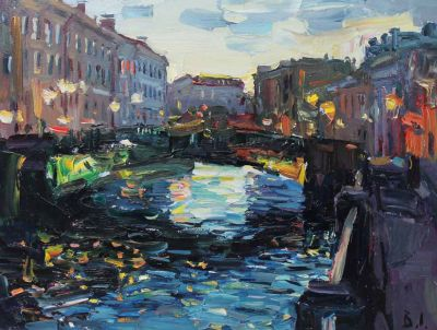 Select Sold Works: Ivan Vityuk - Night, St. Petersburg