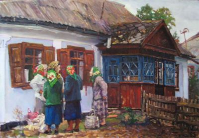 Select Sold Works: Ivan Vityuk - Old Women Quarreling