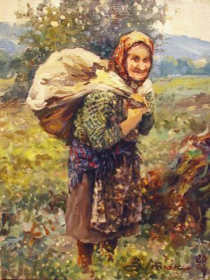 Select Sold Works: Ivan Vityuk - Woman with Sack