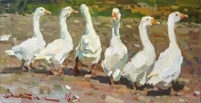 Select Sold Works: Ivan Vityuk - Geese