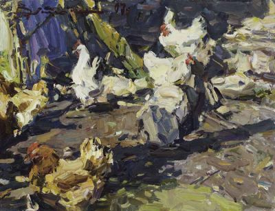 Select Sold Works: Ivan Vityuk - Hens