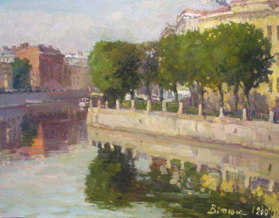 Select Sold Works: Ivan Vityuk - Morning in St. Petersburg