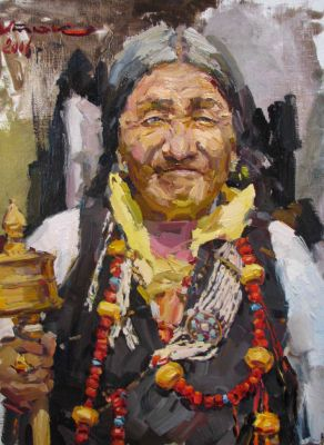 Select Sold Works: Ivan Vityuk - Old Tibetan Woman