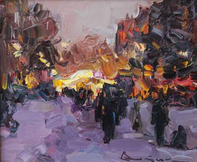 Select Sold Works: Ivan Vityuk - Winter Evening