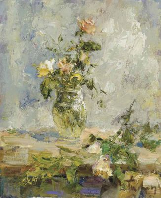Select Sold Works: Tuman Zhumabaev - Spring Roses