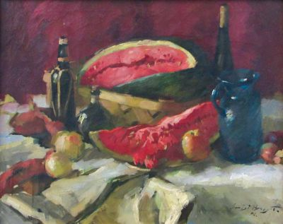 Sergei Bongart - Watermelon in Basket