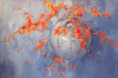 Yana Golubyatnikova - Blossoms in an Asian Vase
