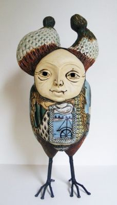 Select Sold Works: Gumaelius - Owl in Fancy Dress