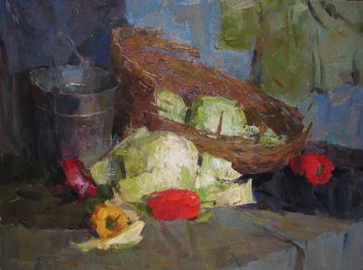 Sergei Kovalenko - Still Life with Cabbage