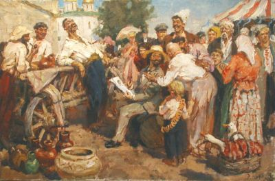 Engels Kozlov - Repin Sketching for Zaporozhe Cossacks