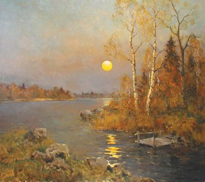 Alexander Kremer - Moonlit Lake