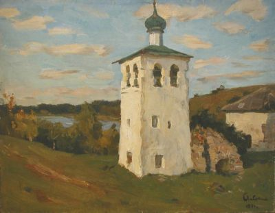 Boris Lavrenko - Belltower in Malakh