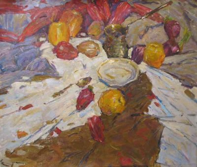 Konstantin Lizogub - Still Life with Peppers