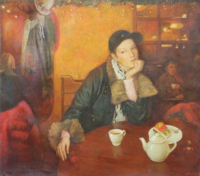 Natalya Makovetskaya - Girl in the Cafe