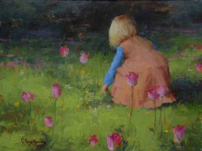 Select Sold Works: Marci Oleszkiewicz - Tulip Garden