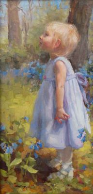 Select Sold Works: Marci Oleszkiewicz - Kasia′s Bluebells