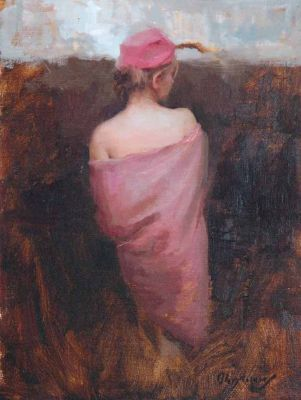 Select Sold Works: Marci Oleszkiewicz - Pink Hat