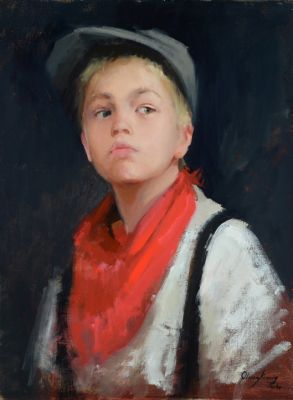 Select Sold Works: Marci Oleszkiewicz - Red Handkerchief