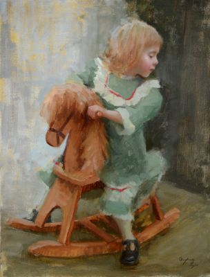 Select Sold Works: Marci Oleszkiewicz - Rocking Horse