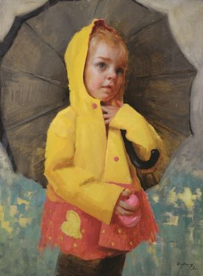 Select Sold Works: Marci Oleszkiewicz - Sunshine in the Rain