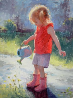Select Sold Works: Marci Oleszkiewicz - Little Rainmaker