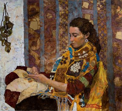 Denis Sarazhin - Portrait in Scarf
