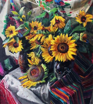Ivan Shutyev - Sunflowers, 1996
