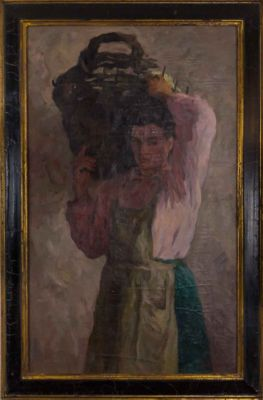 Grigori Sretenski - Woman with Basket